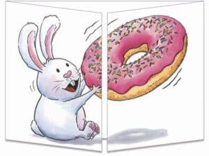 carte postale cache-cache ct312 Les animaux donuts fermée