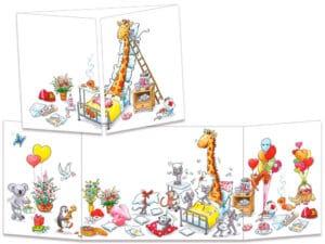carte postale cache-cache ct316 La conalescence de la girafe
