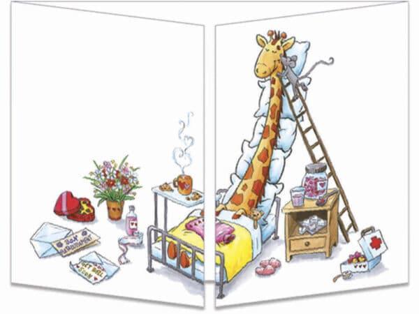 carte postale cache-cache ct316 La conalescence de la girafe fermée