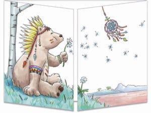 carte postale cache-cache ct317 La sérénité de l'ours indien et l'attrape rêve fermée