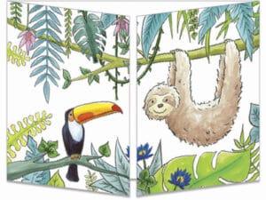 carte postale cache-cache ct319 le paresseux et le toucan fermée