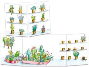 carte postale cache-cache ct323 fiesta chez les cactus