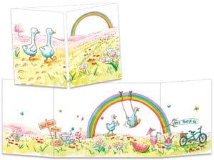 carte postale cache-cache ct326 les amis canards