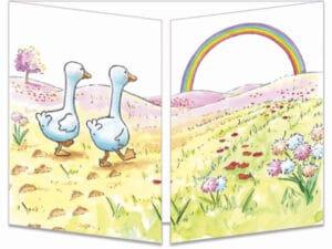 carte postale cache-cache ct326 les amis canards fermée