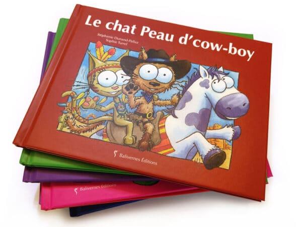 Livre Le chat Peau d'cow-boy et la série Les petits chats