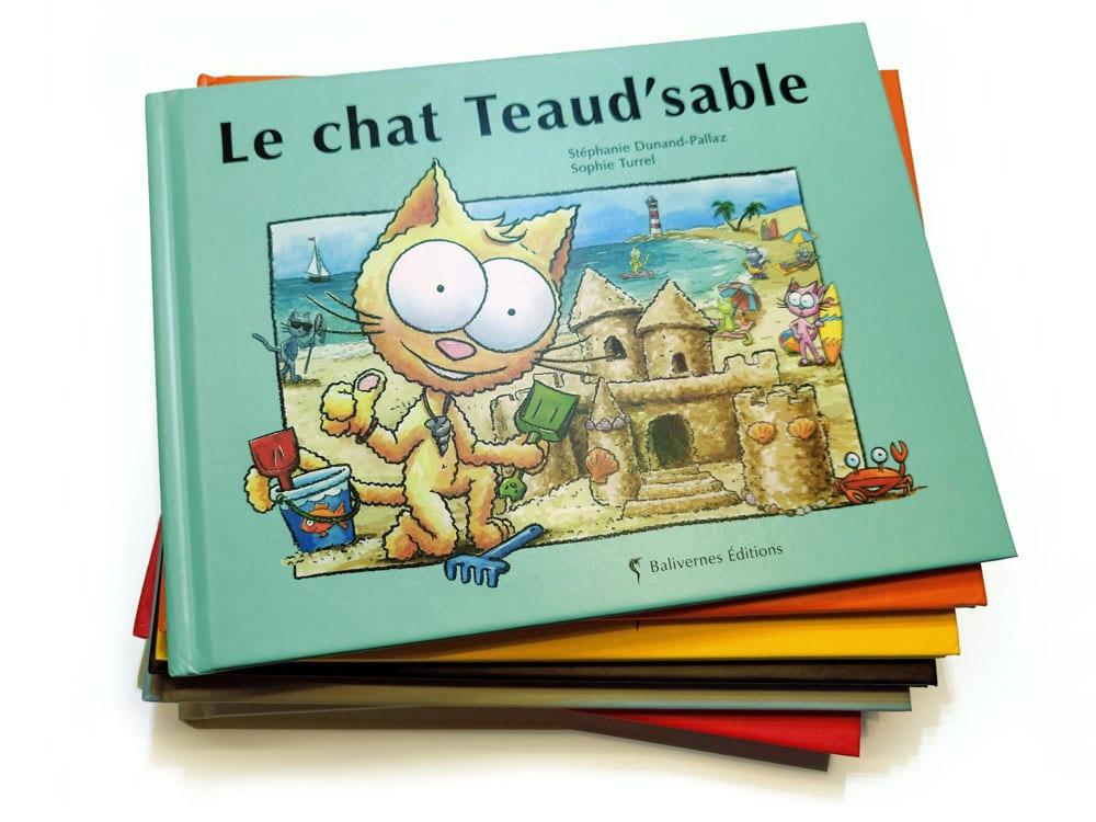 Livre Le chat Teaud'sable et la série Les petits chats