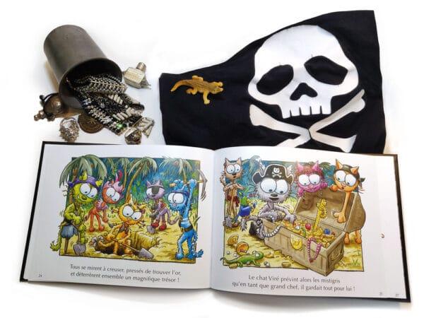 Livre Le chat Viré et le drapeau pirate