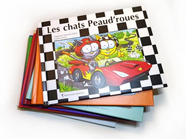 Livre Les chats Peaud'roues et la série Les petits chats