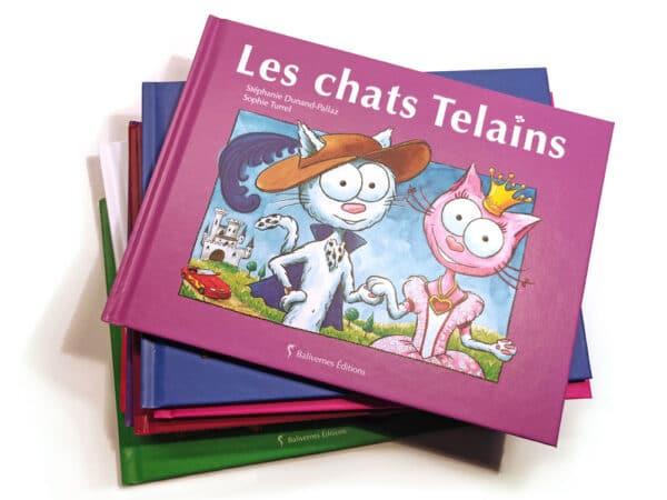 Livre Les chats Telains et la série Les petits chats