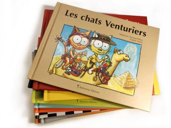 Livre Les chats Venturiers et la série Les petits chats