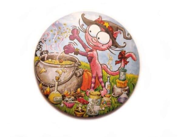 Magnet La fée chat Rabosse l'amie du chat Bracadabra aimant
