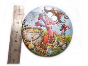 Mesures du magnet La fée chat Rabosse mesure