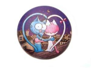 Magnet Le chat Rabia et Miss Tinguette amoureux aimant