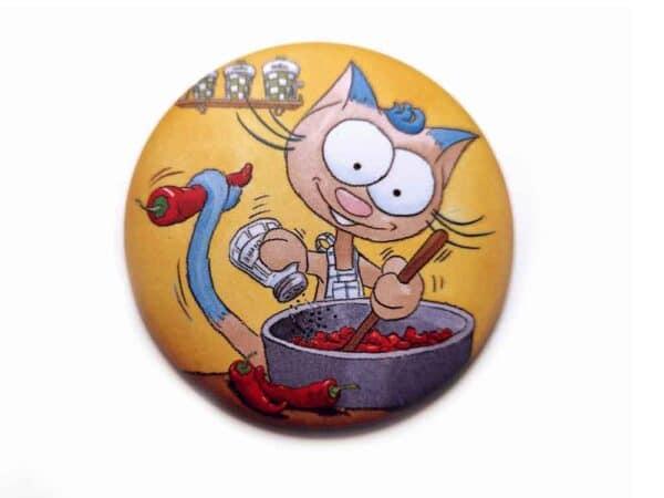 Magnet Le chat Ritable à la cuisine aimant