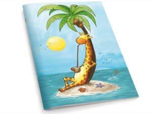 Cahier A5 La girafe en vacances