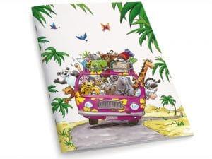 Cahier A5 Le minibus des animaux