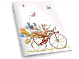 Cahier A5 Le renard à vélo