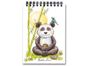Carnet à spirale A6 Le panda Zen
