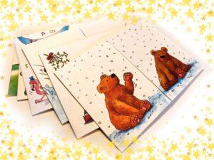 Cartes postales Cache-cache Nouvel an