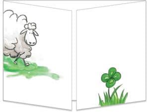 carte cache-cache le mouton et les pelotes de laine