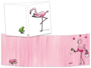 Carte ct022 Le flamant rose voit la vie en rose