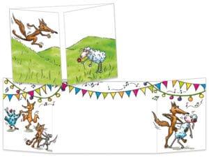 Carte postale ct047 le loup et la brebis