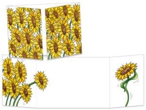 Carte postale ct065 les tournesols