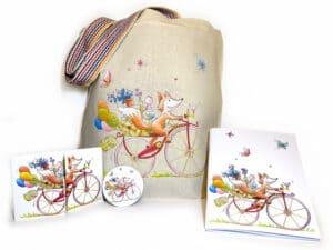 Pack objets assortis illustrés par Sophie Turrel