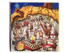 Carte postale d'anniversaire La boîte de jazz
