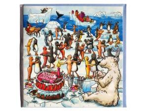 Carte postale d'anniversaire La banquise