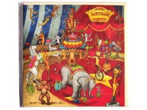 Carte postale d'anniversaire le cirque