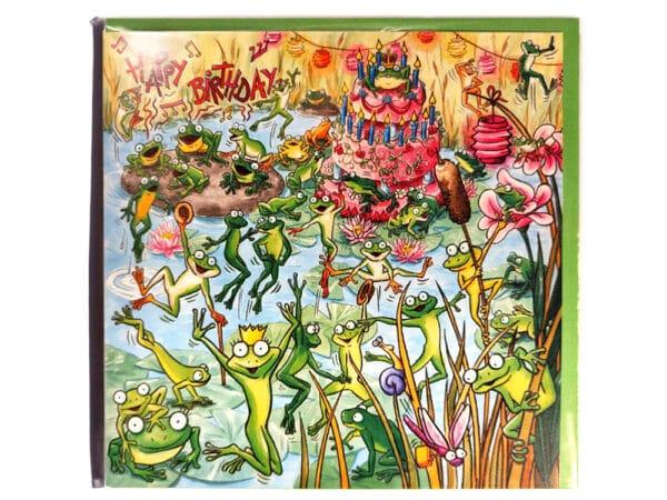 Carte postale d'anniversaire Les grenouilles