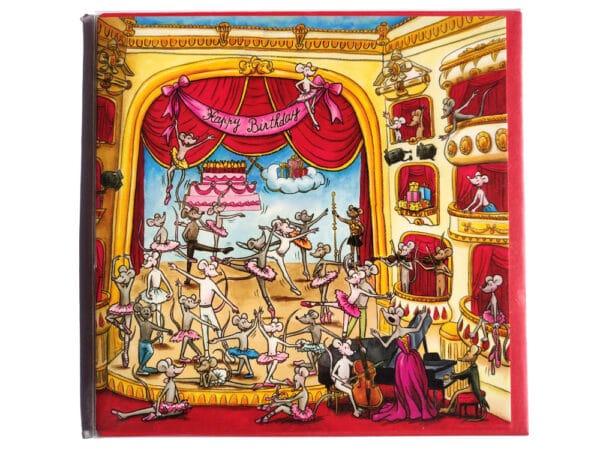 Carte postale d'anniversaire les petits rats de l'opéra