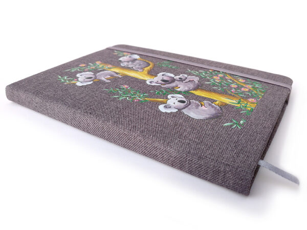 Carnet tissu Les Koalas tranche