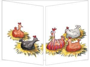 Carte La poule de Pâques