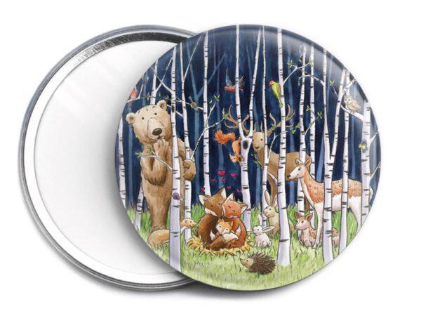 Miroir de sac Les animaux de la forêt