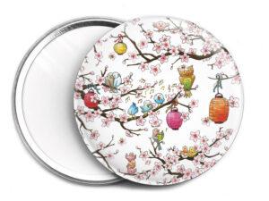 Miroir de sac Le cerisier en fleurs