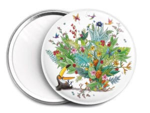 Miroir de sac Jungle ø 7,6 cm