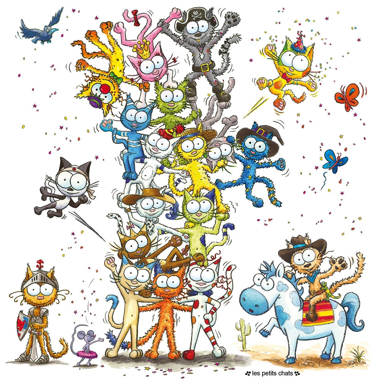 Les personnages de la série Les petits chats