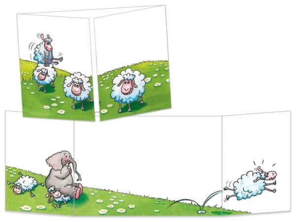 Carte postale la partie de saute-mouton