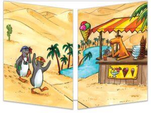 Carte Les pingouins dans le désert