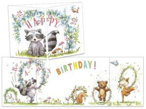 Carte postale cache-cache Le raton laveur