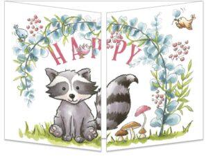 Carte postale Happy-raton-laveur
