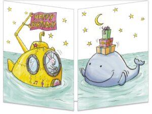 La baleine et le sous-marin
