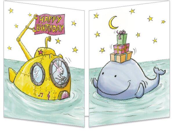 """La baleine et le sous-marin """"Happy birthday"""""""