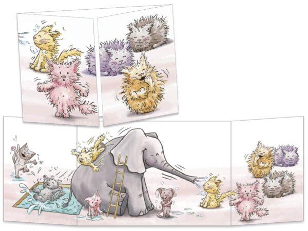 Carte postale Les chatons ébouriffés