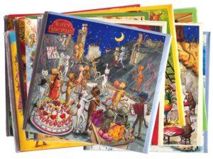 Lot de 10 Cartes postales fiestanniversaire