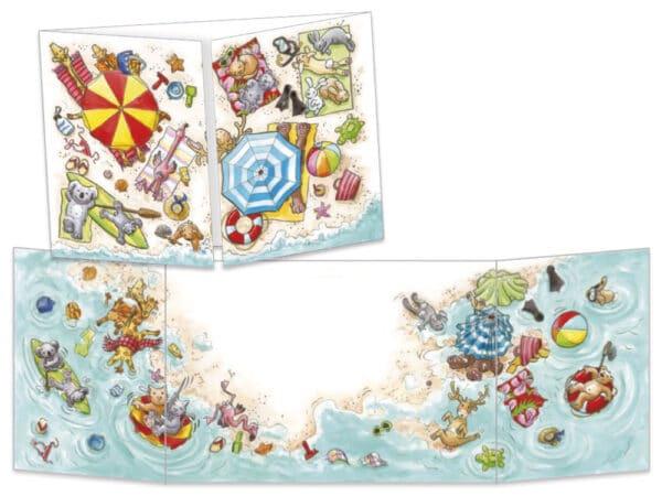 """Carte postale de la collection Cache-cache """"La plage"""""""
